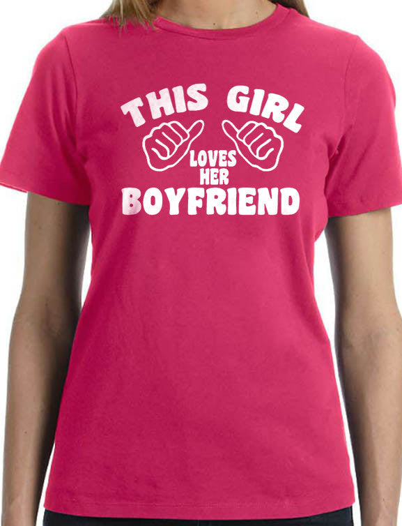 This Girl Loves Her Boyfriend Women's T-Shirt