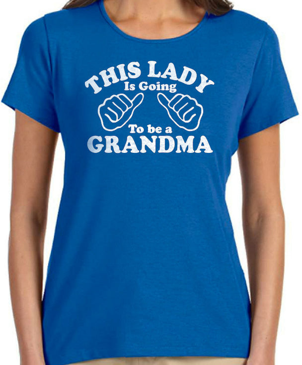 This Lady is going to be a Grandma Women's T-Shirt - eBollo.com