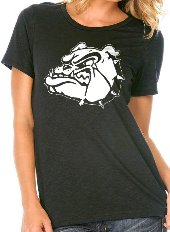Graphic Bulldog Tee Women's T-Shirt - eBollo.com