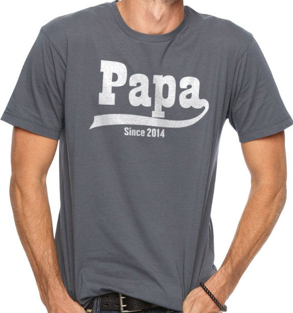 Papa Since 2014 Men's T-Shirt