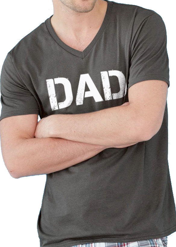 DAD Men's V-Neck Shirt - eBollo.com