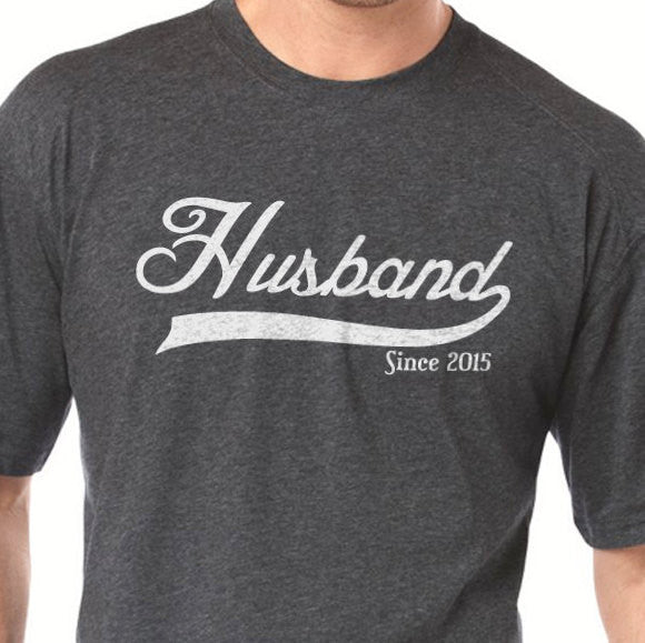 Husband Since (Any Year) Men's T-Shirt - eBollo.com