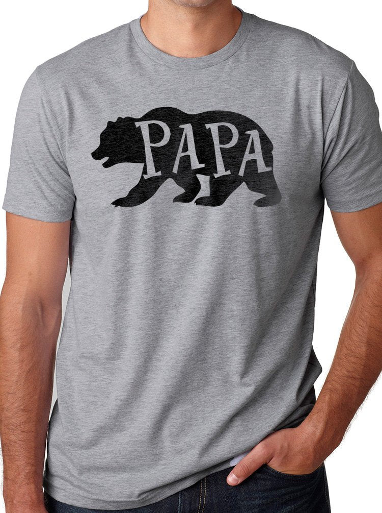 Papa Bear Mens Dad Gift Graphic Fathers Day Novelty Funny T Shirt Tee - eBollo.com