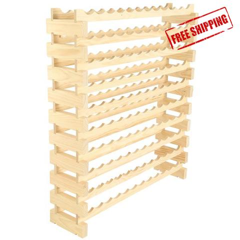 120 Bottle Wine Rack (10 layers high x 12 bottles wide)