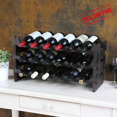 72 Bottle Wine Rack (6 layers high x 12 bottles wide)