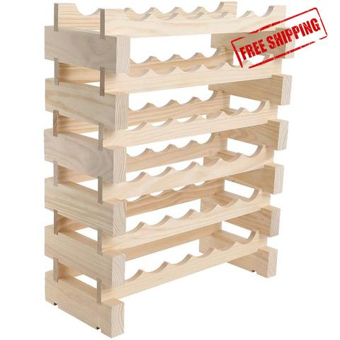 48 Bottle Wine Rack (6 layers high x 8 bottles wide)