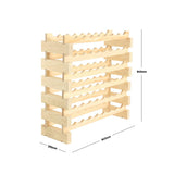 48 Bottle Wine Rack (6 layers high x 8 bottles wide) - Modularack®