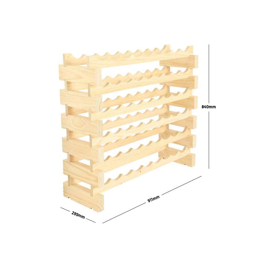 54 Bottle Wine Rack (6 layers high x 9 bottles wide)