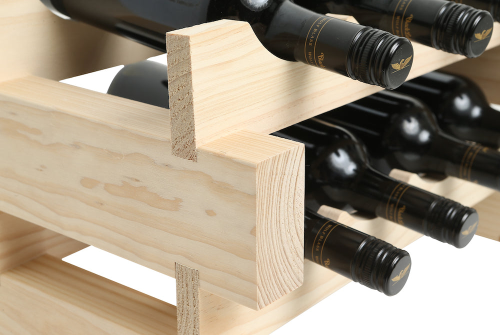 72 Bottle Wine Rack (8 layers high x 9 bottles wide) - Modularack®