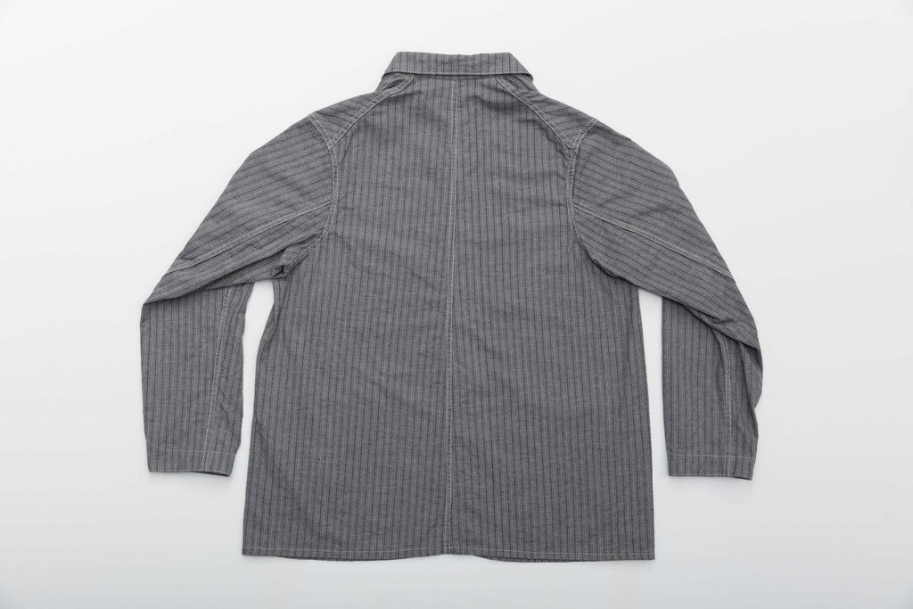 Striped Pincheck Engineer Jacket