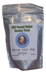 6mg CBD Oil peanut butter banana dog treat