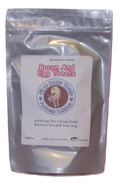 bacon and egg treats with real bacon good for picky dogs