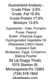 Pumpkin Dog Treats Ingredients