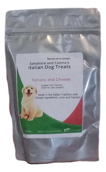 Tomato and Cheese Italian Dog Treats