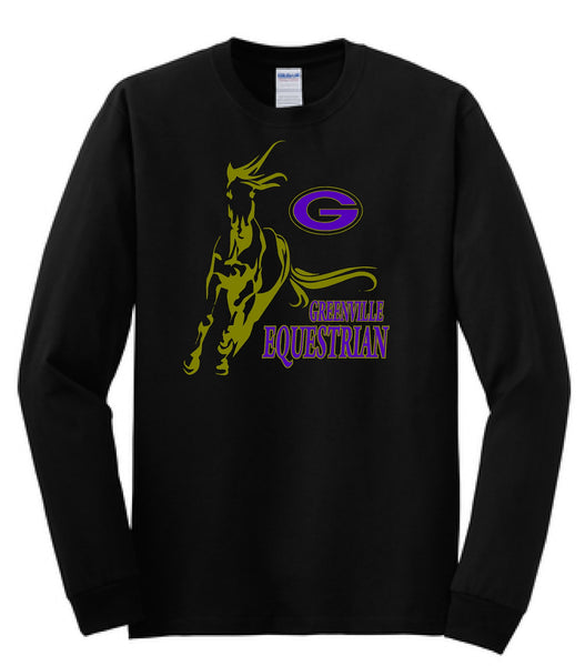 Greenville Equestrian Cotton Long Sleeve Tee