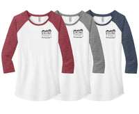 MAISD Early Childhood Ladies 3/4 Baseball Raglan Shirt (Design #1)