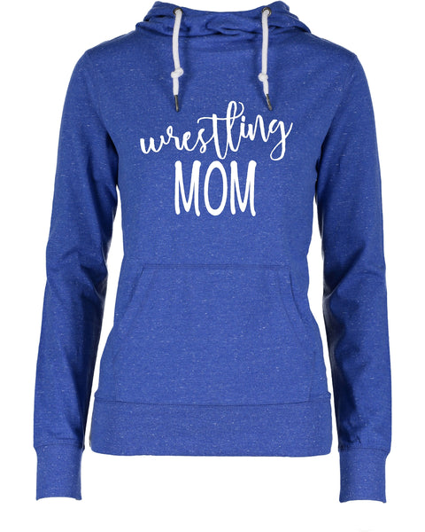 Ladies Wrestling Mom Funnel Neck Shirt