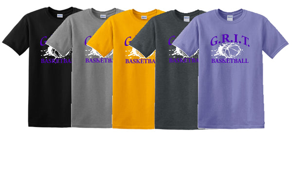 G.R.I.T. Basketball Gildan® - Heavy Cotton™ 100% Cotton T-Shirt (Design1)