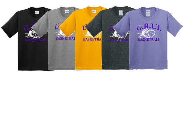 G.R.I.T. Basketball Gildan® - Youth Heavy Cotton™ 100% Cotton T-Shirt (Design1)