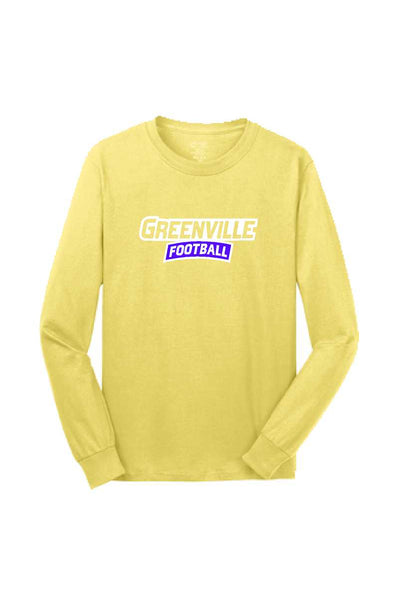 Greenville Football Yellow Long Sleeve