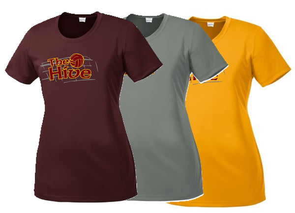 Hive Volleyball Sport-Tek® Ladies PosiCharge® Competitor™ Tee