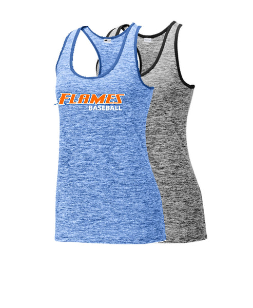 Flames Baseball Sport-Tek® Ladies PosiCharge® Electric Heather Racerback Tank