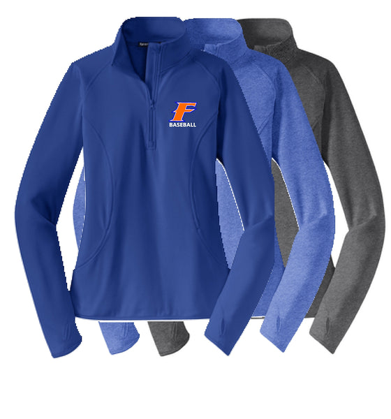 Flames Baseball Sport-Tek® Ladies Sport-Wick® Stretch 1/2-Zip Pullover