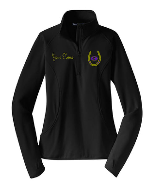 Greenville Equestrian Ladies Performance Poly 1/2 Zip Pullover