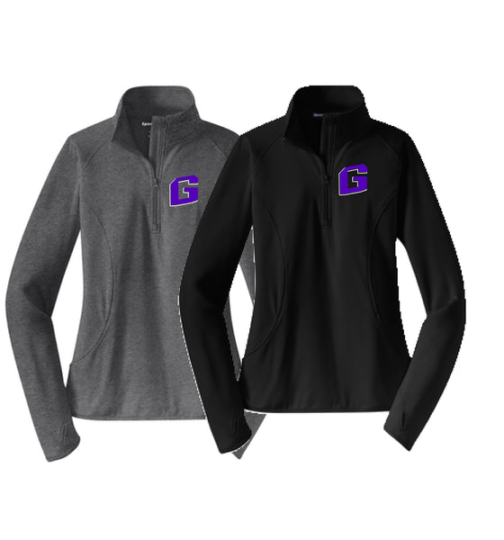 Greenville Wrestling Sport-Tek® Ladies Sport-Wick® Stretch 1/2-Zip Pullover