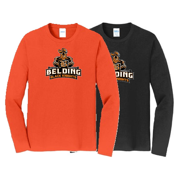 Belding Black Knights Port & Company® Long Sleeve Fan Favorite Tee