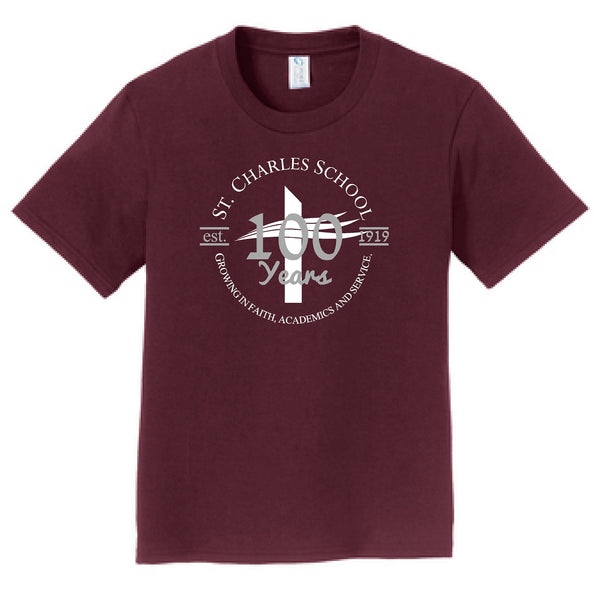 St. Charles School Centennial Youth S/S Tee