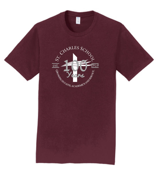 St. Charles School Centennial ADULT S/S Tee
