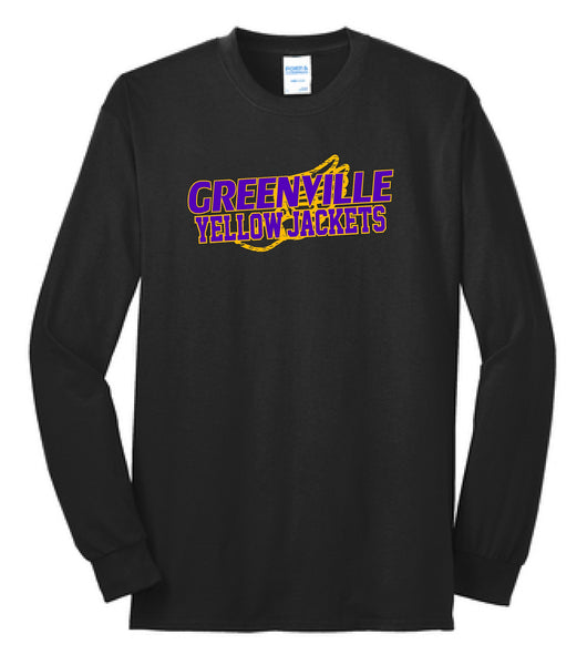 GHS Girls Track Cotton Blend L/S Tee