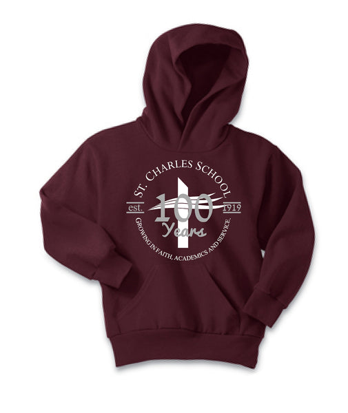 St. Charles School Centennial YOUTH Hoodie