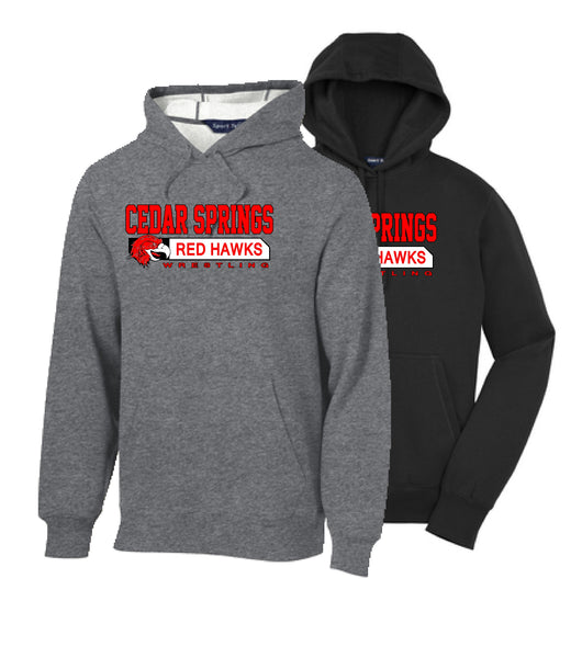 Cedar Springs Wrestling Cotton/Poly Hoodie