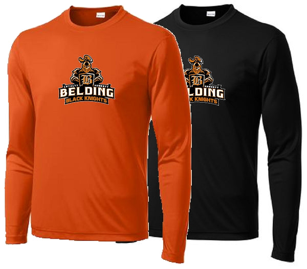 Belding Black Knights Sport-Tek® Youth Long Sleeve PosiCharge® Competitor™ Tee