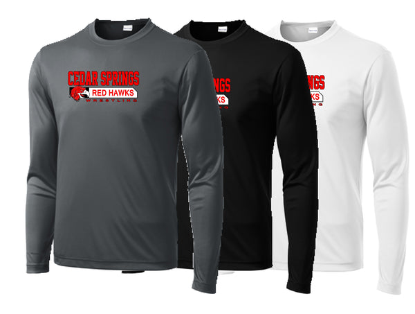 Cedar Springs Wrestling Performance L/S Tee