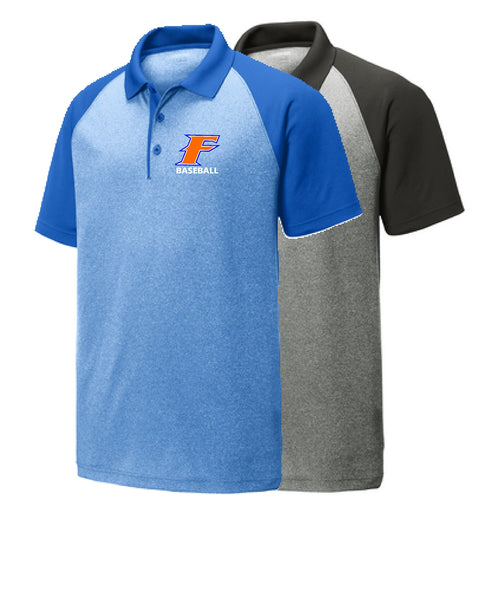 Flames Baseball Sport-Tek® PosiCharge® RacerMesh® Raglan Heather Block Polo