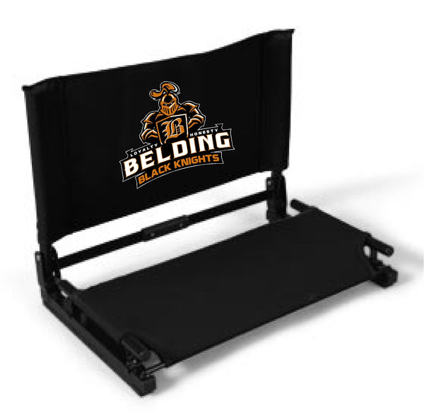 Belding Black Knights Deluxe Stadium Chair