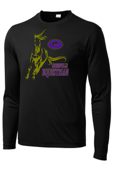 Greenville Equestrian Youth Long Sleeve Performance Poly Tee