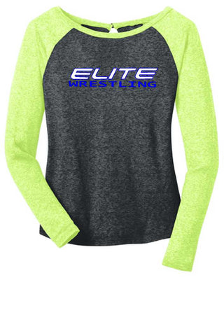 Greenville Elite Wrestling District® - Juniors Microburn® Long Sleeve Raglan Tee