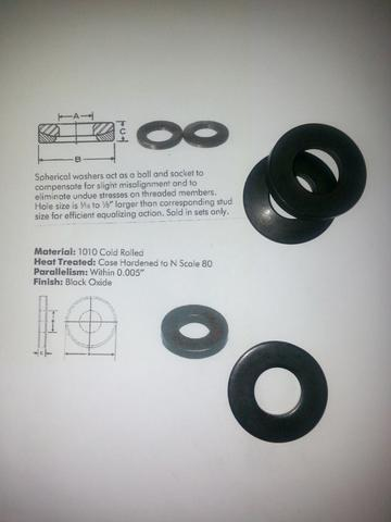 CBN Wheel Self-Aligning Spherical Washer Sets