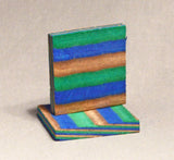 "Bias Cut Colored Wood Pendant Blanks 2 1/4"" x 2 1/4"" x 3/8"""