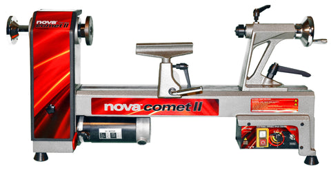 NOVA Comet II 12'' x 16-1/2'' Midi Lathe With (48232) G3 Reversible Chuck & (9033) 5 Piece HHS Mini Turning Chisel Set