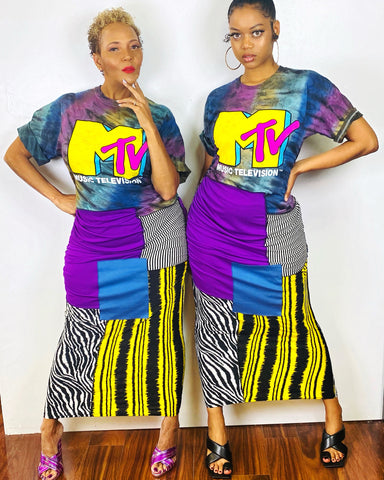 MTV RECONSTRUCTED DRESS - PRE ORDER ONLY - NOVEMBER 16TH SHIP DATE