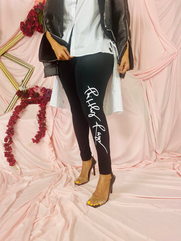 PHILTHY RAGZ LOGO LEGGINGS - BLACK