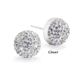 Crystal Stud Earrings (10 Colours)