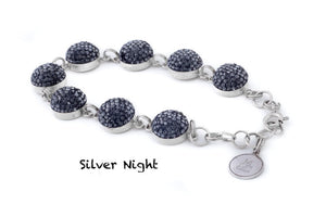 Crystal Link Bracelet (10 Colours)