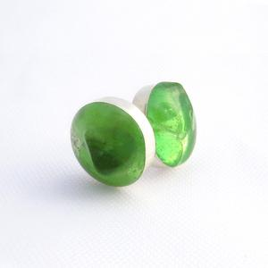 Large Sea Glass Studs