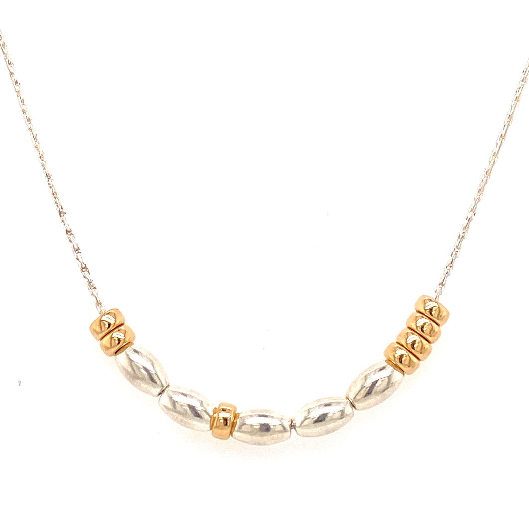 Build Your Own Morse Code Necklace - Sterling Silver/Gold